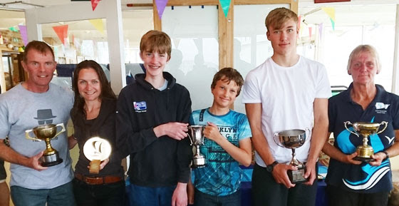 Winners of the Mercury / Macklin / Melvin Watts Trophies and 50th Anniversary Pursuit Race